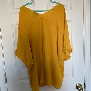 Lane Bryant blouse size 22/24 mustard yellow